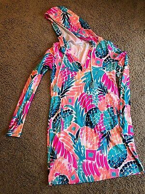 8ac4ed5f12 Lilly Pulitzer RYLIE Beach Cover Up Dress UPF 50+ Multi GOOMBAY SMASHED Sz  Small