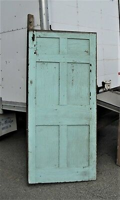 Antique Maine Painted Pine 6-Panel Door B
