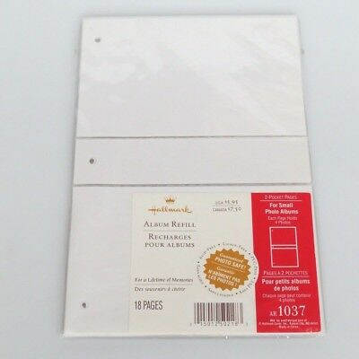Hallmark Refill AR1037 Pocket Pages for small photo albums 4x6 3 ring Acid Free