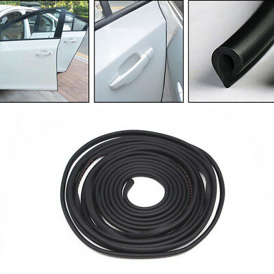 Black Rubber Cars Anti-rub Strip Car Door Moulding Edge Crash Bar Protection Pad Exterior Parts Styling Mouldings