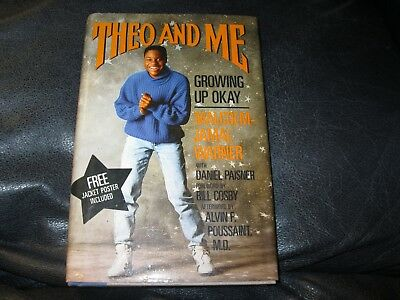 Theo and Me Book Autographed by Malcolm Jamal Warner JSA Auc Certified
