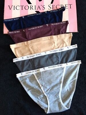 494fce198c32c NWT VICTORIAS SECRET Cotton String Bikini Panties VS Logo -LOT OF 5 ...