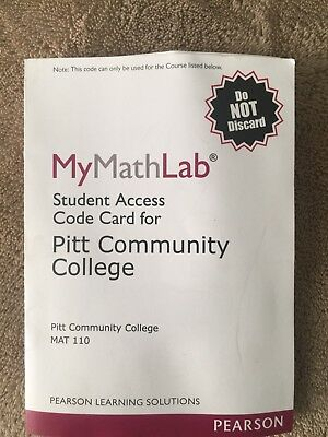 Mymathlab Student Access Code Ebook 1 Second Delivery Read
