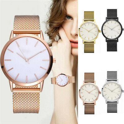 Fashion Womens Lady Watch Stainless Steel Mesh Band Wrist Watches Bracelet Strap