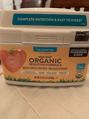 The Honest Co. Organic Non-GMO Sensitive Infant Formula for Occasional Fussiness