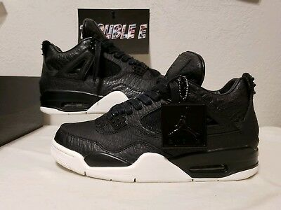 c653c70aa2a 2016 Nike Air jordan 4 Retro Premium SZ 8 Black Pinnacle Croc IV 819139-010