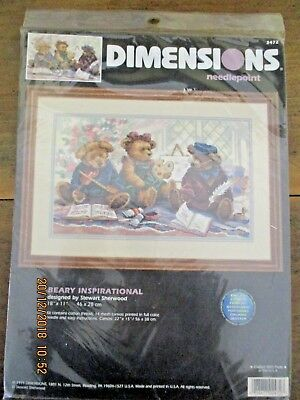 ~Dimensions Needlepoint - Beary Inspirational - Unused~