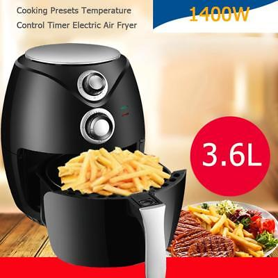 1400W 3.6L Cooking Preset Timer Electric Air Fryer Fried Fish Pot Frying Pan