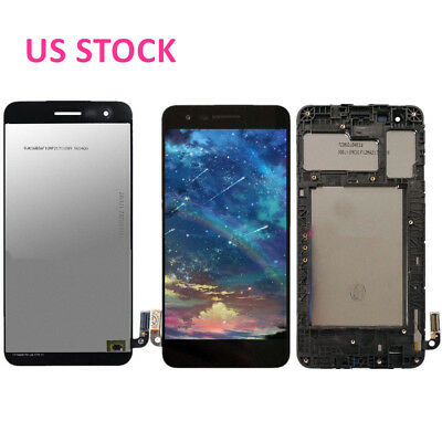 US NEW For LG Zone 4 X210VPP X212TAL K8 LCD Display Touch Screen Assembly +Frame