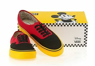 VANS Disney Mickey Mouse Red Black Yellow Sole Mens Shoes