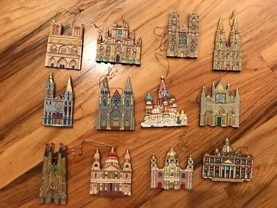 Danbury Mint Cathedrals of the World Ornaments 12 Piece Set