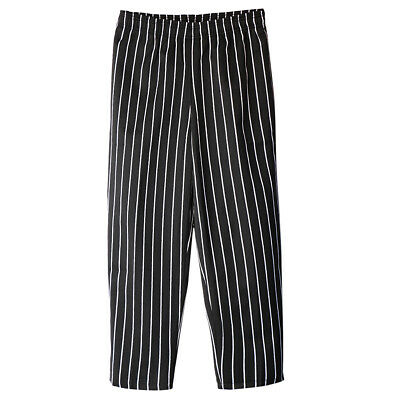 Chef Pants Hotel Restaurant Elastic Comfy Cook Working Trousers for Unisex L