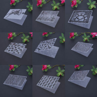 SN9F DIY Plastic Embossing Folder Card Template Scrapbook Paper Decor Making C