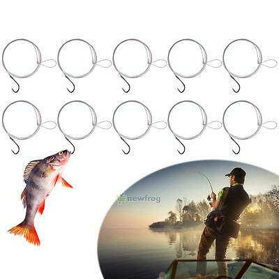 10Pcs High Carbon Steel Fishhook with Carp Fishing Line Barbless Hooks 20LB