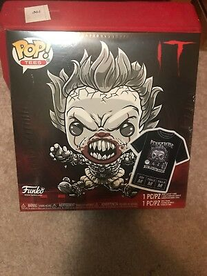 Funko Pop! Movies IT - PENNYWISE FYE Black & White Pop & Shirt EXCLUSIVE X-Large