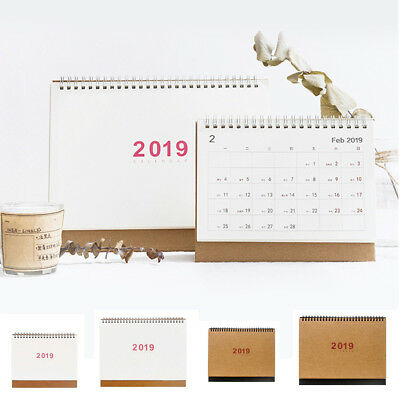 2019 Desk Calendar Month To View Stand Up Office Home Room Table Planner 4 Types