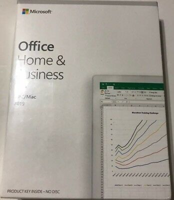 Microsoft Office Home and Business 2019 Windows/Mac Key (New Sealed)