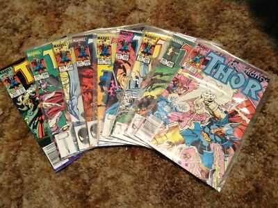 9 issues THOR Marvel Comics 339 340 341 342 343 344 345 346 347 VF/NM or better!