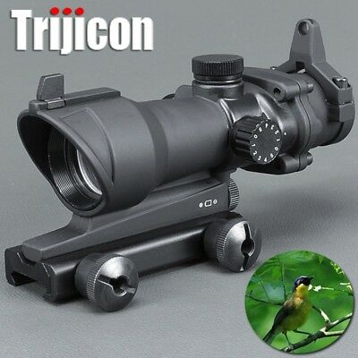 Acog 1x32 Green And With Red Dot Sight Tactical Shooting /hunting Scope Riflesco