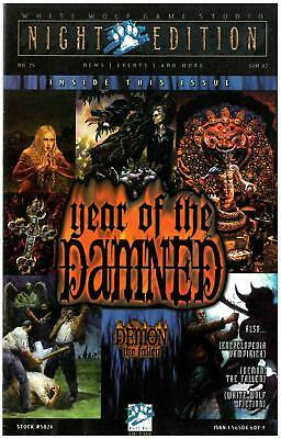 """White Wolf Night Edition Magazine #25 """"Year of the Damned"""" Mag EX"""