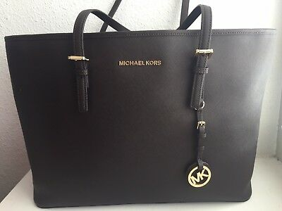 fb5840a62afcc5 SET MICHAEL KORS Jet Set Travel Medium Multi-Function Tote + Wallet ...