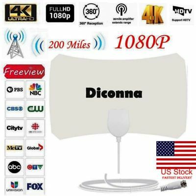 1080P HD Antenna TV Digital Skylink 4K Antena Digital Indoor HDTV 200 Mile Range
