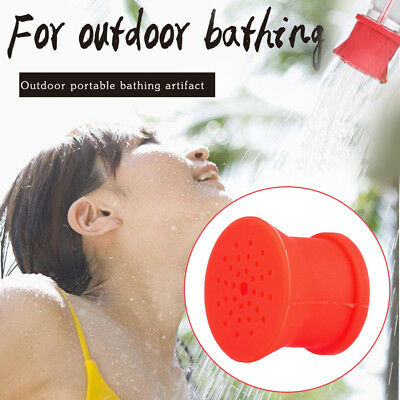 Outdoor Silicone Shower Head Camping Bathing Supplies Flower Sprinkler Tools