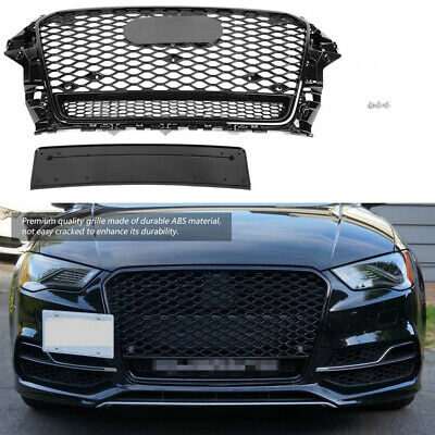 RS3 Style Front Bumnper Grille Honeycomb Mesh for Audi A3 S3 8V 13-16