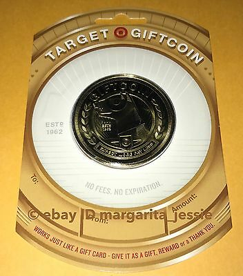"""Target Bullseye Dog 2016 Gift Card """"gold Coin"""" No Value New Collectible"""