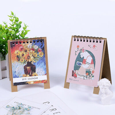 New 2019 Cartoon Desk Calendar Month To View Office Home Room Table Planner Note