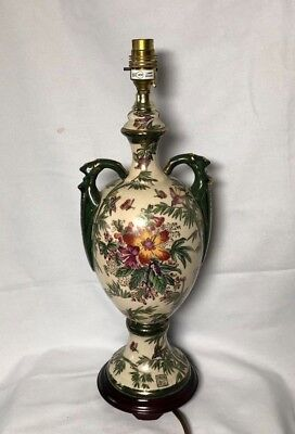 Large Vintage Oriental Chinese Vase  Table Lamp floral 47cms height