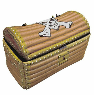 Inflatable Treasure Chest Gold Blow Up Drinks Cooler Pirate Fancy Dress Party
