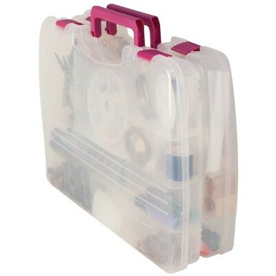 """Creative Options Pro Latch Connectable Satchel 5-22 Compart-14.75""""x2""""x11"""" Clear"""
