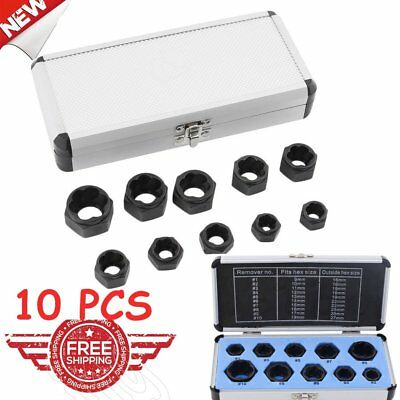 Damaged Bolt Nut Screw Remover Extractor Removal Set Nut Removal Tool Kit 4W