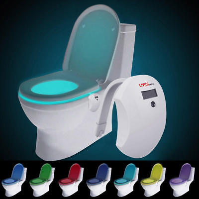 LED Motion 8-Color Sensing Automatic Activated Night Color Toilet Light Bathroom