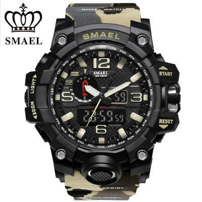 SMAEL Mens Sports Multi-function Waterproof Digital Military Quartz Wrist Watch