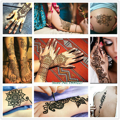 0c397f2c8b38d Natural Herbal Henna Cones Temporary Tattoo kit Black Body Art Paint  Mehandi Ink