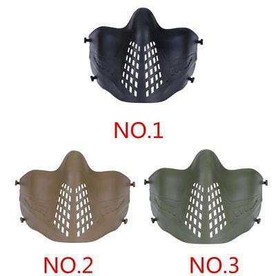 Outdoor Tactical Protective Half Face Mask for Military Hunting Airsoft Mesh