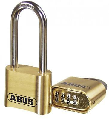 ABUS 180/50 Solid Brass Combination Padlock - Long Stainless Steel Shackle...