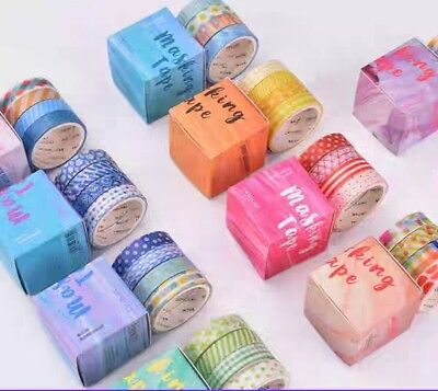 Japan Washi Tape 4 rolls Geometry Colors 9mm x 3m x 4 MT327
