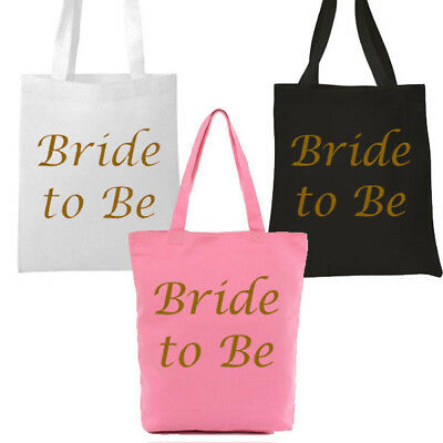Pink,White,Black Gold Bride To Be Tote Bag Hen Party Keepsake Girls Night Out