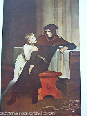 Antique Print C1909 A Tragic Scene From English History Prince Arthur And Hubert