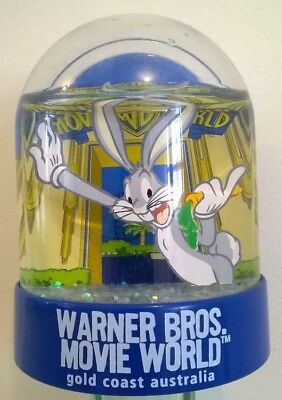 Warner Bros Movie World Australia Waterball Snow Dome Globe Vintage Bugs Bunny