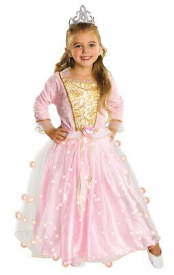 9968e393627b Kids Pink Fairy Rose Princess Girls Light Up Fancy Dress Costume Party  Outfit