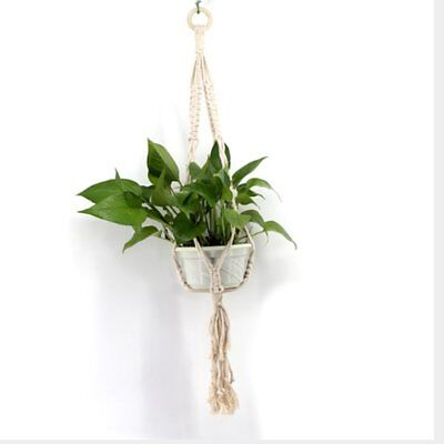 Hand Knitting AU Pot Garden Plant Hanging Net for Home Office Decor 4W