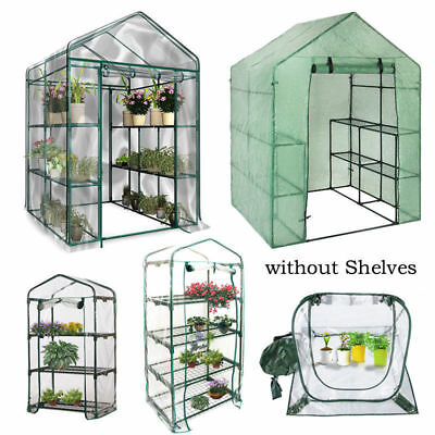 Walk In Greenhouse Plant Shed Green House Garden Storage PE PVC Cover Apex Roof