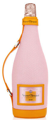 Veuve Clicquot Champagne Bag Rosé PINK Ice Jacket Sleeve - Leather NEW 750mL