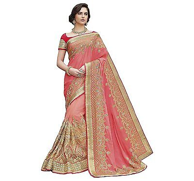 Bollywood Saree Party Wear Indian Pakistani Ethnic Wedding Designer Sari 556