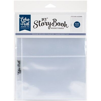 "My Story Book Album Pocket Pages 6""x8"" 10/pkg-(2) 4""x6"" Openings"