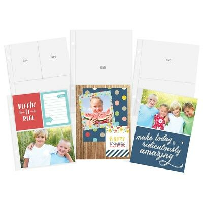 """Sn@p! Pocket Pages For 6""""x8"""" Binders 12/pkg-variety Pack"""